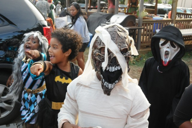 Scream! It's Batman and friends at the HHC/516th Signal Brigade Trunk-or-Treat here on 25 Oct.