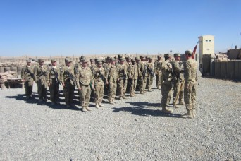 U.S. Army artillerymen from 1st Battalion, 76th Field Artillery Regiment, 4th Infantry Brigade Combat Team
