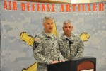 Chandler, Campbell meet, brief Fort Sill troops