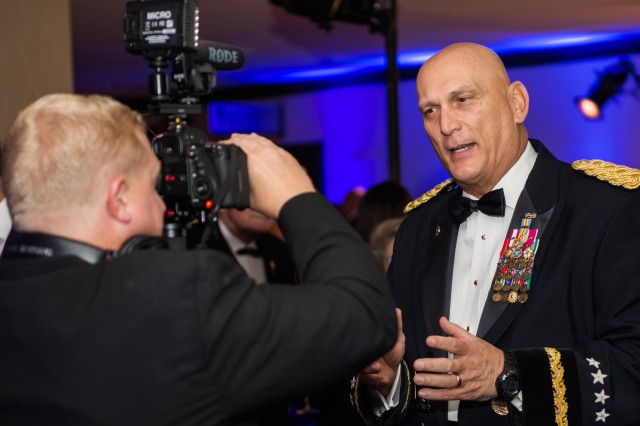 U.S. Army Chief of Staff, Gen. Raymond T. Odierno gives a couple brief remarks about the 2013 USO Gala October 25, 2013 at the Washington Hilton, Washington, D.C. before the start of the event.(U.S. Army Photo by Sgt. Mikki L. Sprenkle/Released)