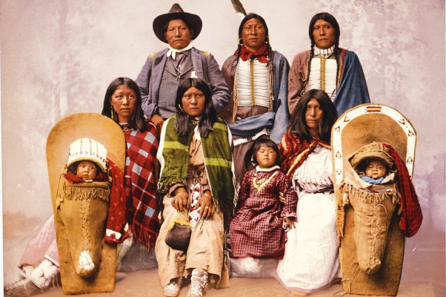 Utes Chief Sevara and family.