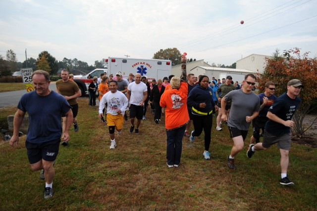More than 50 runners and walkers of all ages particiapted in the annual Fort A.P. Hill Halloween 5-Kilometer Run and Walk on Oct. 31.