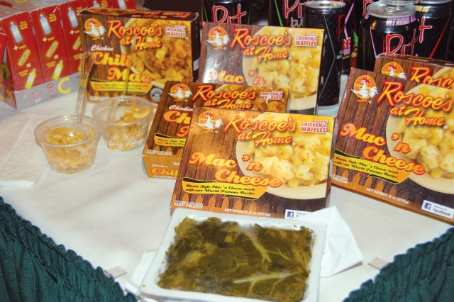 The sampling of items as diverse as Mac 'n Cheese and Chili Mac dinners were part of the Oct. 12 American Logistics Association Hawaii Show.