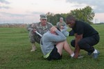 Wings of Destiny sergeants major conduct Army physical fitness test