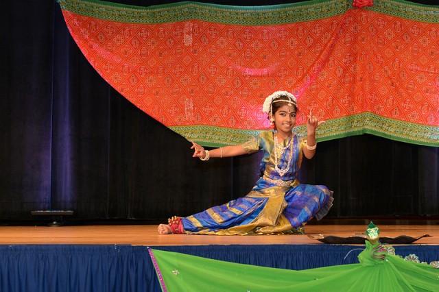 Air Force Lt. Col. Ravi Chaudhary's daughter dances at Pentagon Diwali Celebration