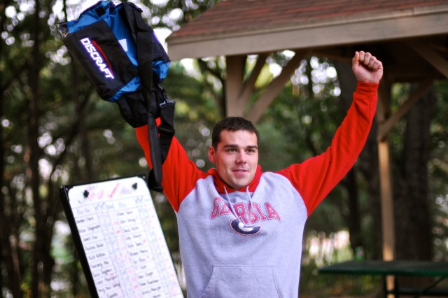 The Third Annual Disc Golf Lost in the Woods Open Tournament, hosted by Outdoor Recreation, was held at Beacon Hill Park, Oct. 19. Disc golf, also known as Frisbee golf, is a game where players navigate a course and throw a flying disc towards baskets that resemble oversized basketball hoops.