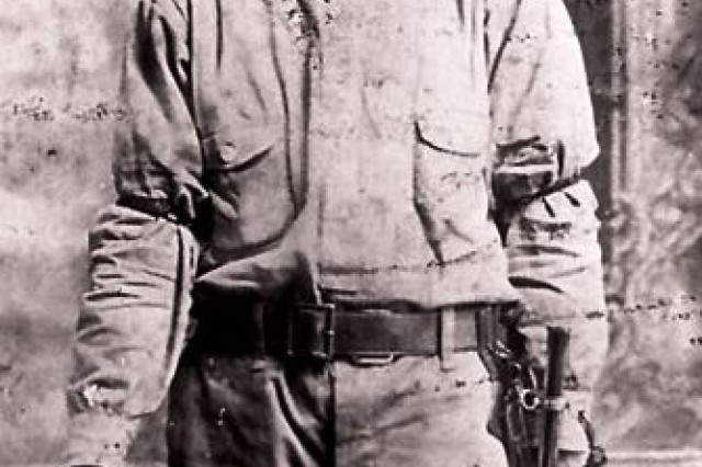 Apache Scout Sergeant Sinew L. Riley was the 3rd generation of his family to serve as a Scout for the US Army. In 1974, Riley Barracks on Fort Huachuca was named for him.