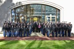 Army Reserve Soldiers take group photo with U.S. Army World War II Veteran