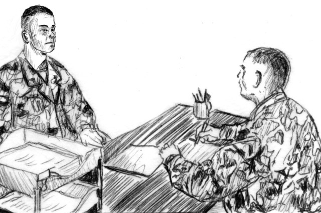 A Soldier's performance in regard to fostering a climate free of sexual assault and sexual harassment will now be recorded on their Officer Evaluation Report or Non-Commissioned Officer Evaluation Report, known as an NCOER. In this illustration from Army Field Manual 7-22, The Non-Commissioned Officer Guide, a leader discusses his expectations with a junior NCO during NCOER counseling.