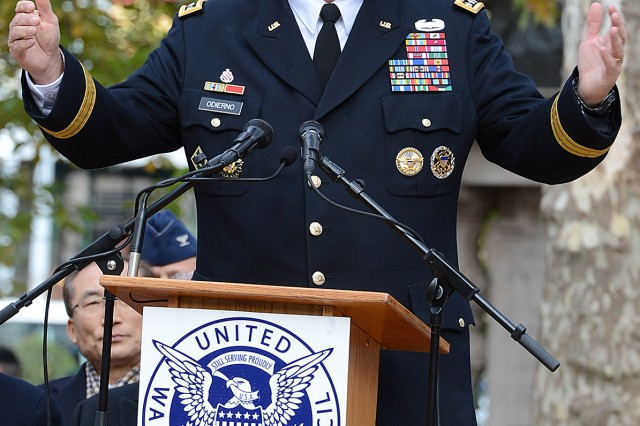 Army Chief of Staff Gen. Ray Odierno told veterans from all of the services that they were the true VIPs for the day, during a wreath-laying ceremony honoring the service and sacrifice of all veterans, Nov. 11, 2013.