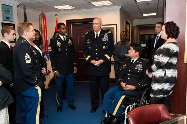 CSA promotes and retires wounded warriors, Soldiers for life.