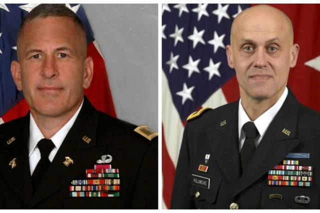 Left - Col. Jeffrey Gabbert; Right - Brig. Gen. Kirk Vollmecke