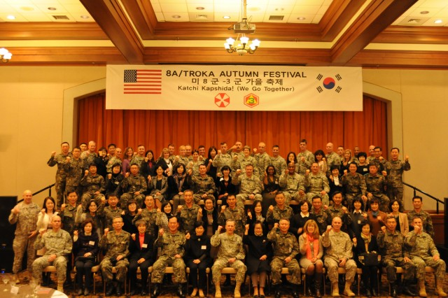 U.S. and South Korean Army leaders gathered for an alliance festival on Camp Humphreys, South Korea, Nov. 15, 2013.