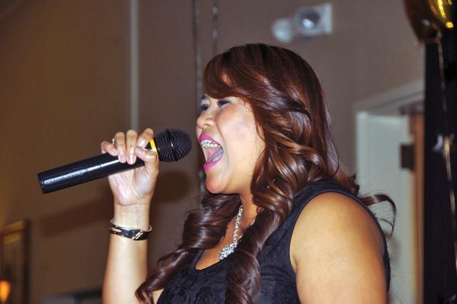 Joyce Severino sings in the USAG-HI Operation Rising Star contest.