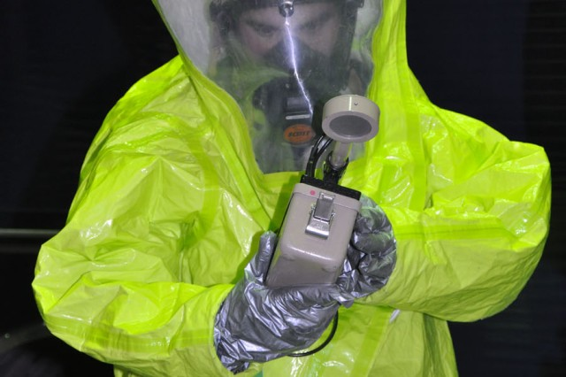 Radiological training was one of five training events that each first responder had to work through.