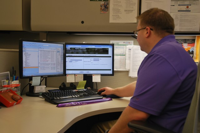 Todd Goetz, traffic management specialist with SDDC, uses the Lift Onboard module as part of his daily workload.  Goetz estimates since this portal came online, his time analyzing manifests has been reduced by about 65 percent.