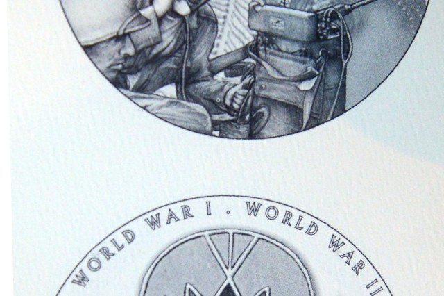 One of the brochures presented Nov. 20, 2013, on Capitol Hill, depicts Ponca code talkers