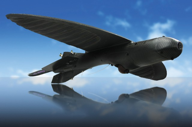 "The Army recently purchased 36 Maveric unmanned aerial system vehicles, the same as depicted here, for a special mission. They are smaller than the Raven and Puma, so are considered ""micro UAS."""