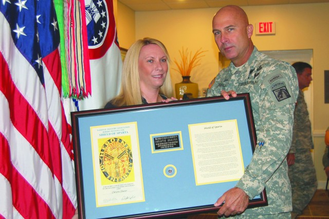 Christie Shaver and Lt. Gen. Joseph Anderson