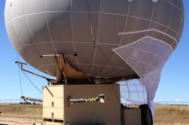 The Winch Aerostat Small Platform, or WASP, is a mobile, tactical-sized aerostat capable of carrying a variety of payloads in support of military operations.