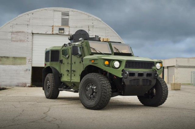 The Ultra Light Vehicle is a hybrid vehicle that includes lightweight advanced material armor, lightweight wheels and tires and other automotive systems, blast-mitigating underbody technology and advanced command, control, communications, computers, intelligence, surveillance and reconnaissance equipment inside.