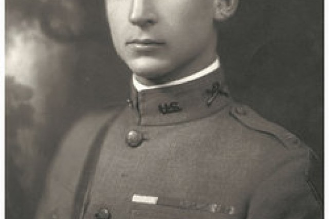 Capt. Edward C. Allworth poses for a picture in his uniform. Allworth earned the Medal of Honor for his actions at Clery-le-Petit, France, during World War I. Allworth's son donated this prestigious award and seven other medals to the Army Heritage and Education Center at Carlisle Barracks, Pa., Nov. 6, 2013.