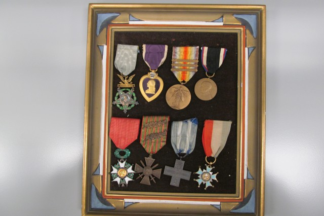 Capt. Edward C. Allworth's medals: Medal of Honor; Purple Heart; World War I Victory Medal with St. Mihiel, Meuse Argonne and Defensive Sector clasps; Army of Occupation of Germany; French Medal of Honor; French Croix de Guerre with 2 palms; Italian Royal Order of Military Merit; Levi Washington State diamond Medal.