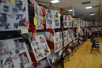 Several of Savannah's top military supporters were on hand at the presentation of the Remembering Our Fallen exhibit Nov. 23 in Savannah. Remembering Our Fallen is a photo memorial honoring the military members from Georgia who paid the ultimate sacr...