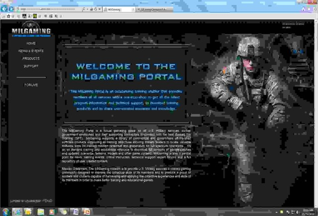 Milgaming website