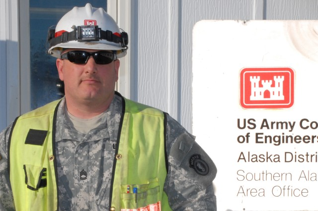 "Sgt. 1st Class Ron Albert, engineer inspector for the 2nd Engineer Brigade, spent 90-days with the U.S. Army Corps of Engineers "" Alaska District in the Arctic Trailblazer Internship Program learning the duties of a quality assurance representative in the district's Southern Area Office located on Joint Base Elmendorf-Richardson. The internship program is a chance for qualifying junior-ranking officers and mid-level noncommissioned officers to be updated on best engineering practices, increase safety awareness to the standards of the civilian industry and support the training goals of the brigade."