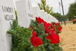 Christmas wreaths placed for fallen heroes