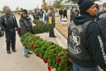Motorcycle club helps place Christmas wreaths for fallen veterans