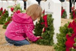 Christmas love from a child to a fallen hero