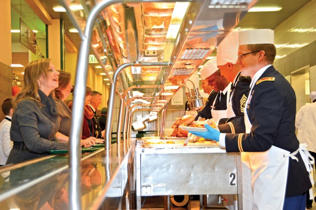 Behind the scenes on Thanksgiving: Celebrating the hardworking dining facility staff