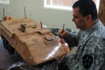 Soldiers create works of art for Thanksgiving