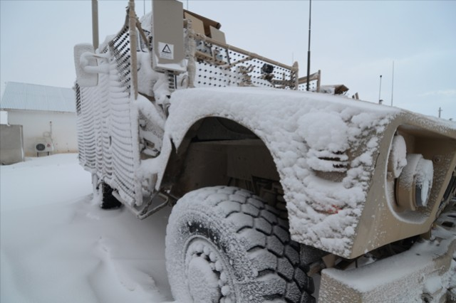Before you head out into cold weather, either tactically or for recreation, take appropriate precautions. It doesn't take a lot of exposure to the elements to take you out of commission. Courtesy U.S. Army photo
