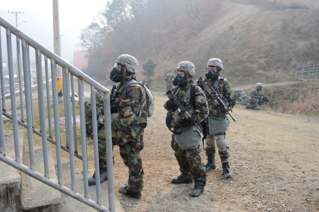 'Iron Soldiers' support South Korean combined training exercise