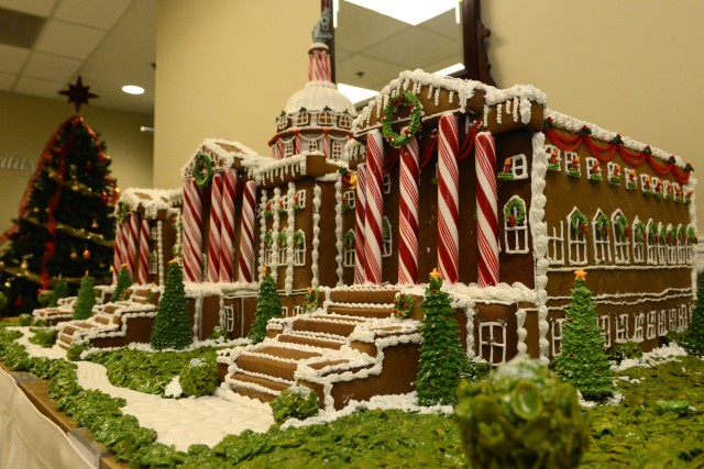 Soldiers create gingerbread house of U.S. Capitol in exquisite detail