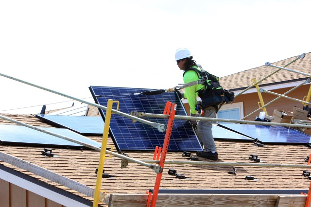 USAG-HI housing communities, through builder IPC^LLC, continue to expand its renewable energy program with the installation of PV systems atop existing homes.