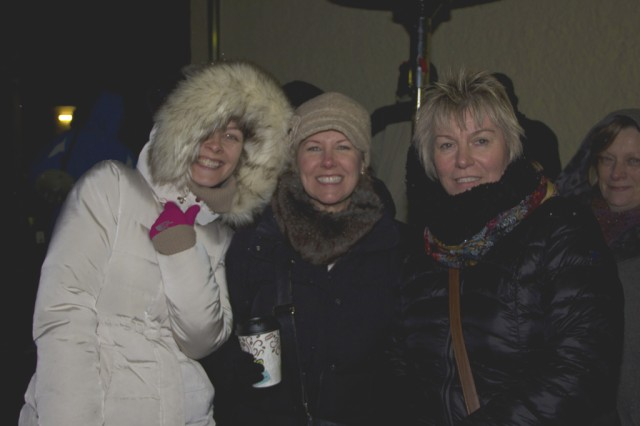 USAG Ansbach community members take a moment for the camera during the tree-lighting festivities at Storck Barracks Dec. 6.