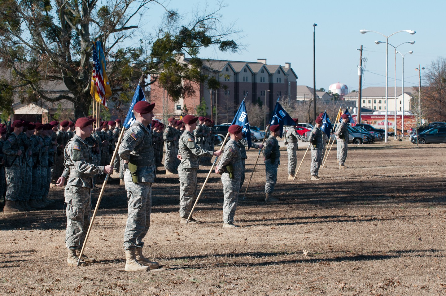 2-501st Parachute Infantry Regiment paratroopers become