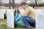 Thousands lay wreaths at Arlington gravesites
