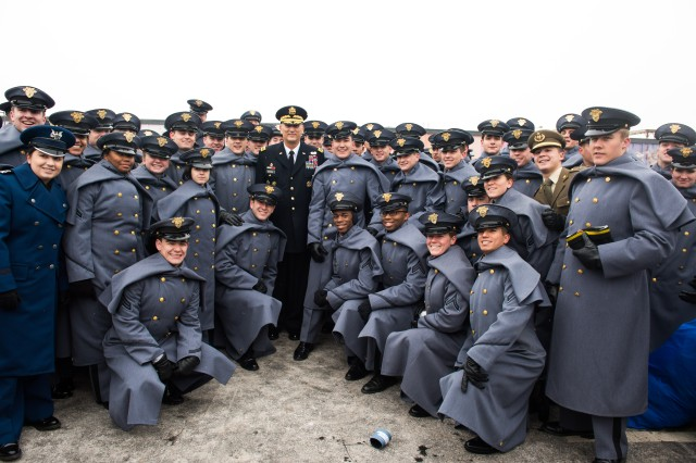 U.S. Army Chief of Staff Gen. Ray Odierno poses for a photo with West Point cadets before the 114th Army-Navy football game in Philadelphia, PA, Dec. 14, 2013.  The Army-Navy game is an American college football rivalry between the United States Military Academy and the United States Naval Academy dating back to 1890.  (U.S. Army photo by Staff Sgt. Steve Cortez/ Released)