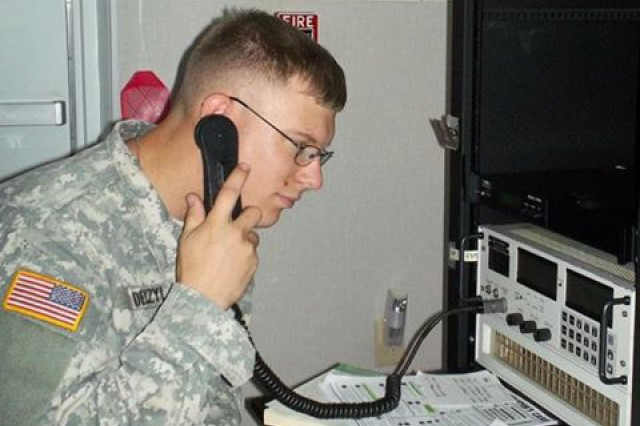 A Soldier gets some high frequency radio training at Fort Huachuca's  Military Auxiliary Radio System Gateway in Arizona.