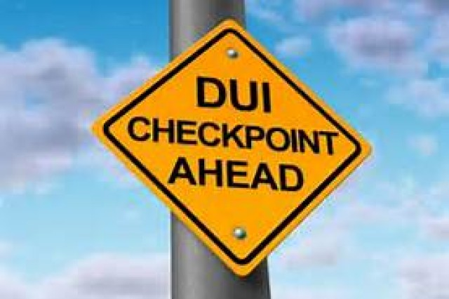 U.S. military law enforcement agencies across Okinawa are conducting DWI checkpoints.
