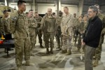 401st AFSB Soldier briefs DOD logistics leaders