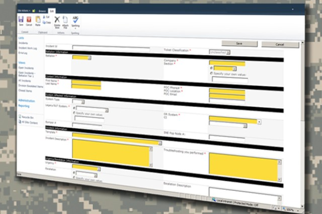 The Unified Trouble Ticketing System (UTTS) ensures an automated trouble ticket is managed at the most effective level of field support for any product in the Army's command, control, communications, computers, intelligence, surveillance and reconnaissance (C4ISR) family of systems.