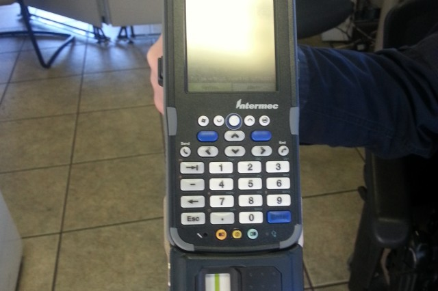 The Rapid Gate RCX scanner is able to validate several forms of identification including the Rapid Gate card. The handheld devices are part of the Rapid Gate program which started on post Dec. 1.