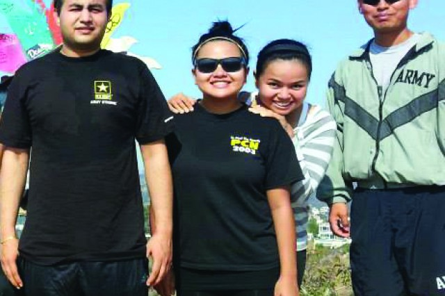 Future Soldiers from the Koreatown Center hike in the Hollywood Hills in the city of Hollywood, Calif.