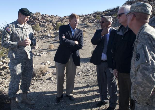 Fort Irwin officials assess floood damage with Congressman Cook